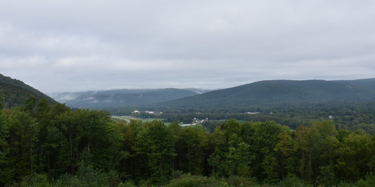 View from Allegany State Park of Salamanca, NY 2018. Credit: Catt. Co. Dept. of EDPT