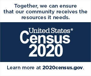 Together, we can ensure that  your community receives the resources it needs. United States Census 2020. Learn more at 2020Census.gov
